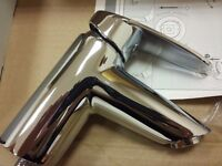Vitra Dynamic-S Basin Mixer Tap for Single Hole (1-Hole) Sink Brand New Chrome (2 Available)