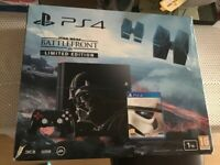 PS4 1tb console limited edition star wars with 3 games