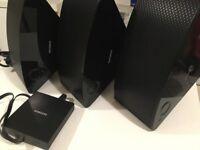 3 Samsung m3 MultiRoom speakers + hub