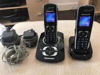 Panasonic Twin Set Cordless Digital Home Phones (with answer machine)