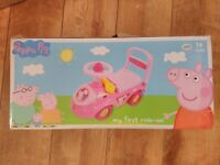 Peppa Pig My first ride on. (Brand new boxed)