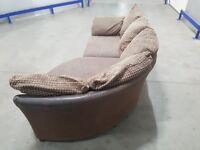 DFS - Fabric L-Shape Curved Corner Sofa