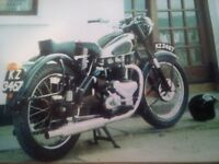 1949 BSA A7 500cc Twin (British Classic Bike Bobber)