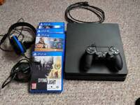 Ps4 1TB with controller and 4 games mint