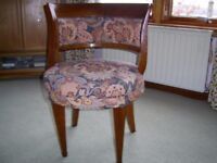 2 barrel backed antique chairs
