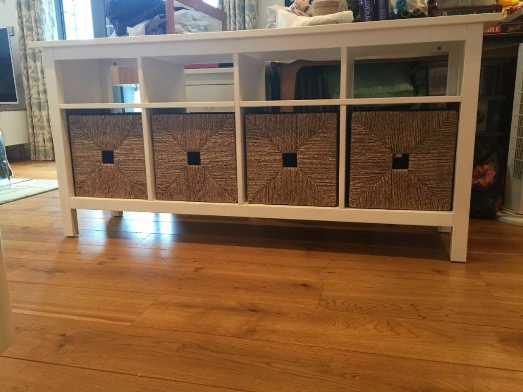 used ikea hemnes console table in white stain in hertford hertfordshire gumtree. Black Bedroom Furniture Sets. Home Design Ideas