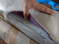 5m*4m new twist pile carpet, purple