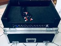 Pioneer DDJ SX2 flight case with patch panel