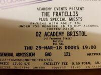 2 x Fratellis Tickets Bristol O2 Academy