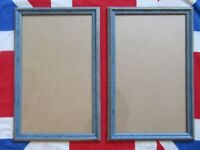 2 Large Photo Photograph / Picture Frames