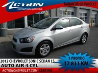 2012 Chevrolet Sonic LS SEDAN AUTO AIR BLUETOOTH