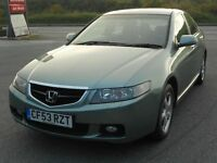 HONDA ACCORD 2.4 VTEC EXECUTIVE AUTO, 2004, 2 OWNERS, FSH, LEATHER, SAT NAV, TOP SPEC, LOVELY CAR