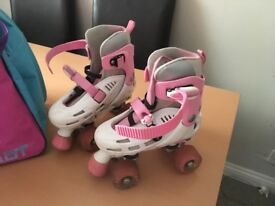 Roller boots - disco and matching bag