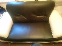2 seater black and white couch good con pick up l7 only