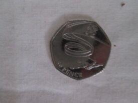 50p - 50 pence olympic gymnastics 2011 coin