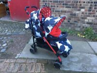 Cossatto double buggy with cosy toes