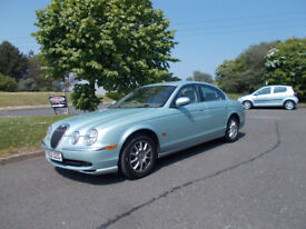 JAGUAR S-TYPE SALOON TOP OF THE RANGE SILVER/BLUE 2002 ONLY 58K MILES BARGAIN £1450 *LOOK*PX/DELIVER