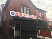 Ali's chippy and takeaway business for sale in bury