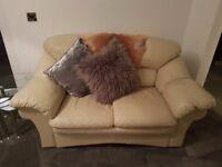 Comfy 2 Seater Cream Sofa