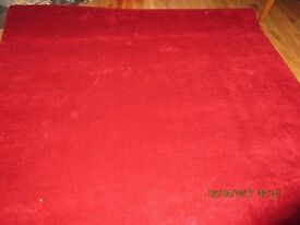 Red short pile carpet New condition 2.1m x 2.2m