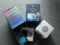 Two Glow Colour changing wireless bluetooth speakers by Kitsound