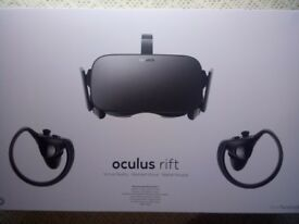 Oculus Rift CV1 Brand New + 2 Touch Controllers