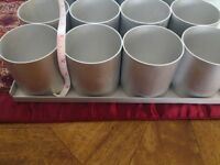 16 individual cake tins for square cup cakes 2 inch approx - round
