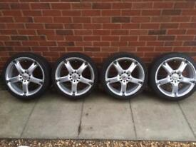 17 inch BK racing multi-fit alloys with tyres
