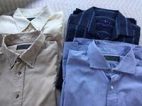 Four Men's excellent quality shirts for sale size 16-17 collar