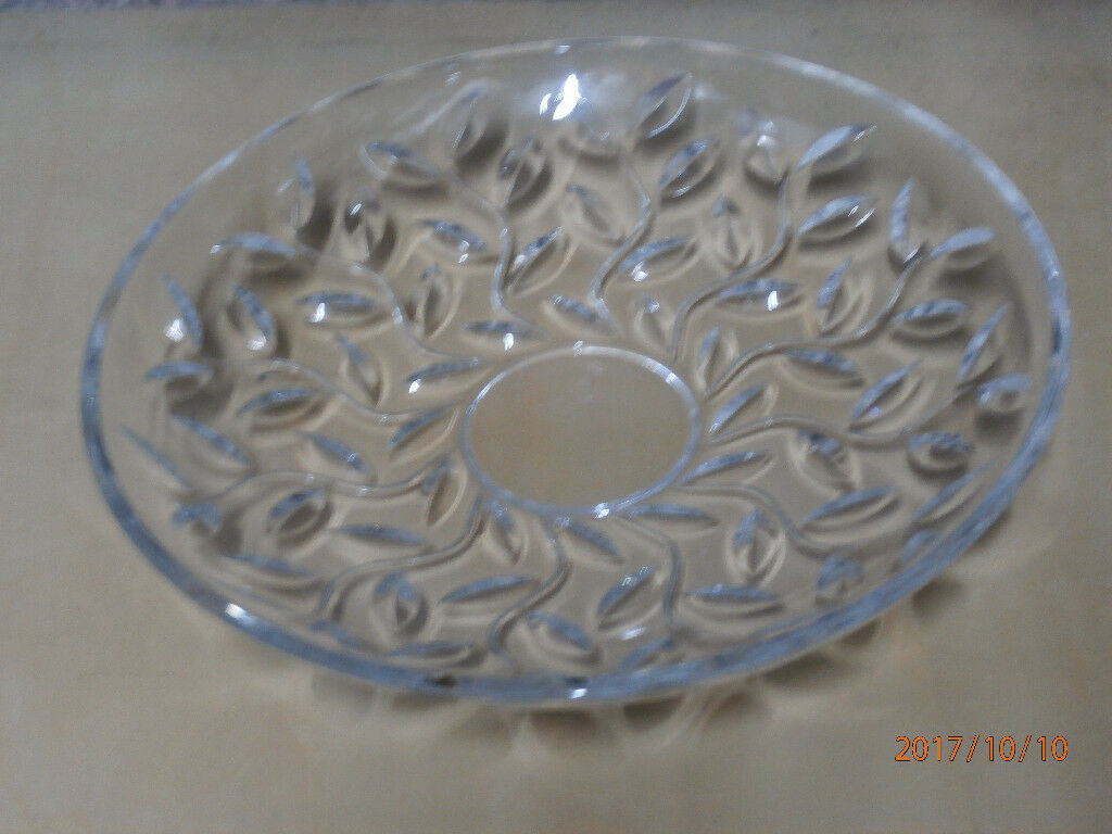 Glass Platter 325mm diameter Design as per photo * New Reduced Price *