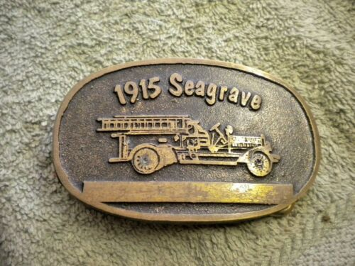 1915 Seagrave Solid Brass Belt Buckle