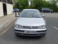 2003 Volkswagen Golf 1.6 Silver 5dr hatchback AUTO Petrol MOT Aug2017All previous MOTs