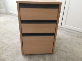 Small wood effect Filing cabinet