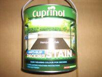 New Cuprinol Anti Slip Decking Stain Hampshire Oak in 2.5 Litres Tin