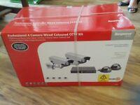 Friedland Professional 4 camera wired coloured CCTV kit