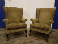 PARKER KNOLL WING CHAIR SET 2 x WINGBACK ARMCHAIRS / CHAIRS DELIVER AVAILABLE