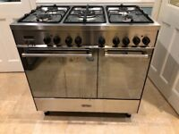 Range cooker -free standing - dual fuel - delonghi- 8 years old -