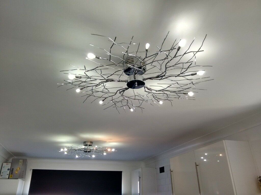 Living Room Kitchen Designer Lights Chrome Branch Effect