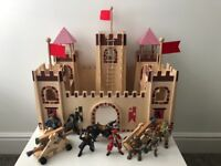 Kids wooden castle with figures