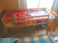Cabin bed with chest of drawers to match