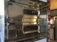 """ITALIAN NEW 2 DECK PIZZA OVEN 8 X 13"""" CATERING COMMERCIAL FAST FOOD RESTAURANT FAST FOOD TAKE AWAY"""