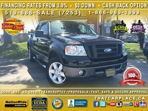 2007 Ford F-150 FX4 4x4 -$72W- Sunroof-Leather-Heated Seats-Flar