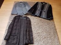 3 warm wooly cardigans/jackets. All size 18/XL