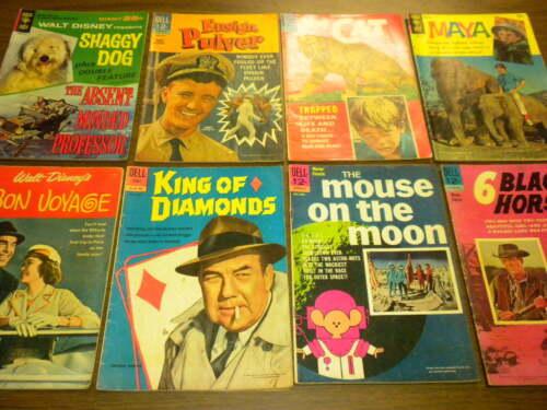 8 DELL/GOLD KEY movie comics/classics 1960