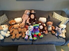 Collection of 14 teddy bears (mostly build-a-bear) - all in good condition