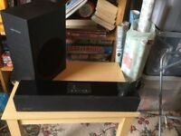 orbit spatial soundbar with subwoofer and bluetooth