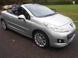 PEUGEOT 207 1.6 VTi GT CONVERTIBLE F/S/H IMMACULATE (silver) 2009