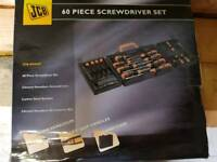 Jcb screwdriver tool set bnib 60 peice *diy, home, Dewalt, Milwaukee, Bosch, Makita, halfords,*