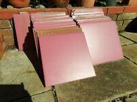 6m2 Deep Pink Faenza Monoceramic Italian Floor Tiles