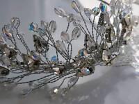 Silver Crystal Jewels Bridal Hair Band